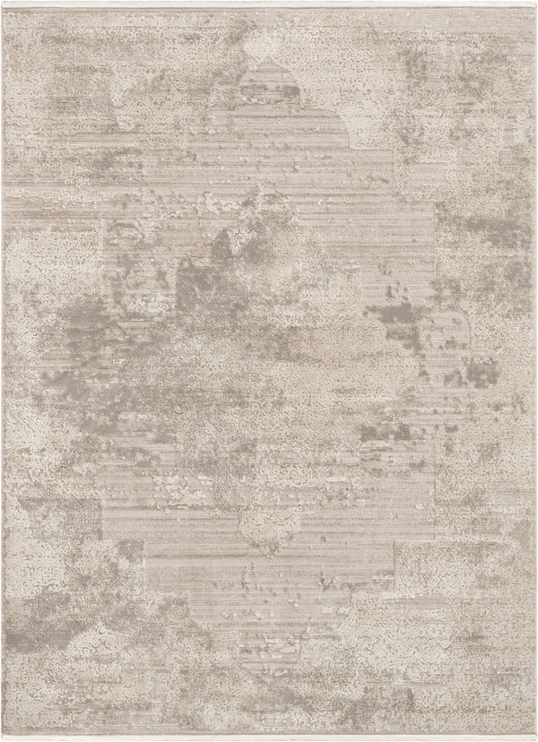 Amie Beige Vintage Natural Medallion High-Low Rug