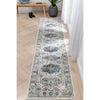 Novalie Vintage Patchwork Botanical Border Blue Rug