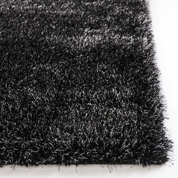 Liza Black Plush Shag Rug