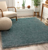 Liza Blue Plush Shag Rug