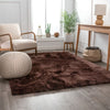 Liza Taupe Brown  Plush Shag Rug