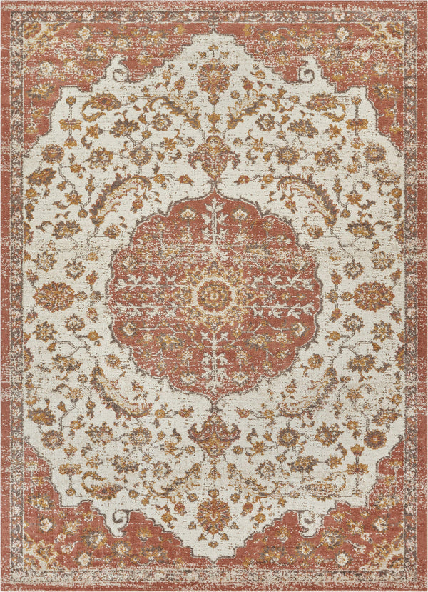 Ana Brick Traditional Rug