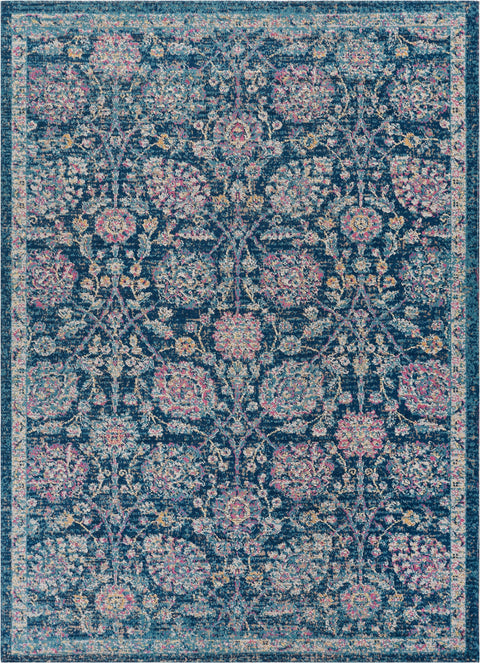 Wixby Blue Traditional Rug