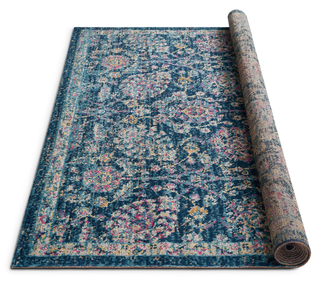 Wixby Blue Traditional Rug Well Woven