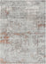 Angus Modern Abstract Distressed Grey Blush Glam Rug
