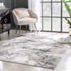 Arlo Retro Marble Pattern Grey Blush Glam Rug