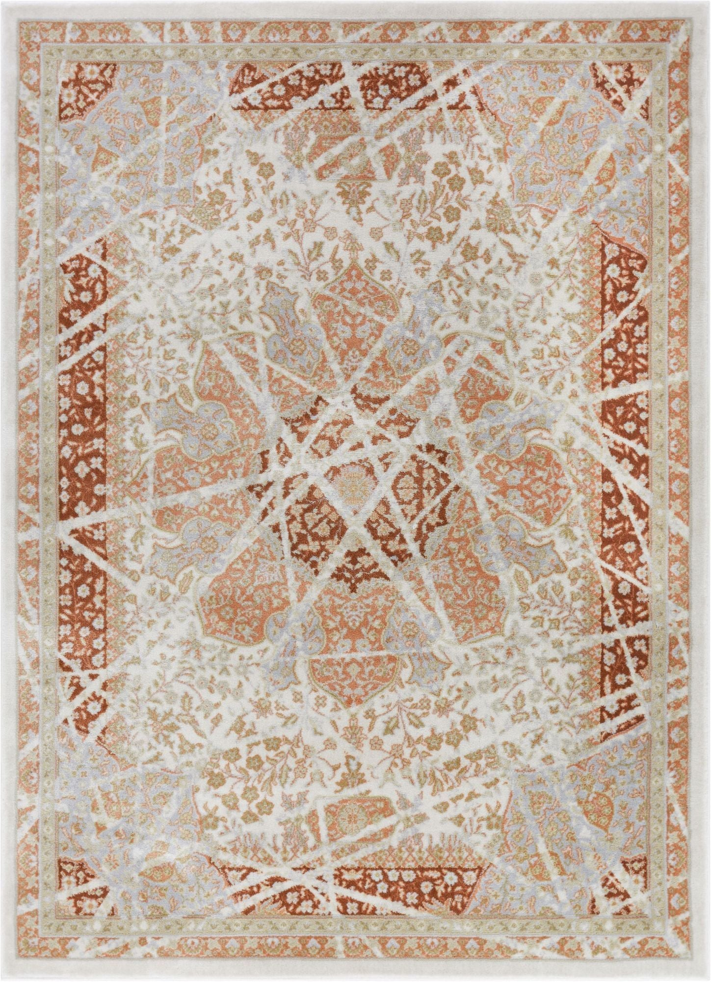 Marco Copper Vintage Rug Well Woven