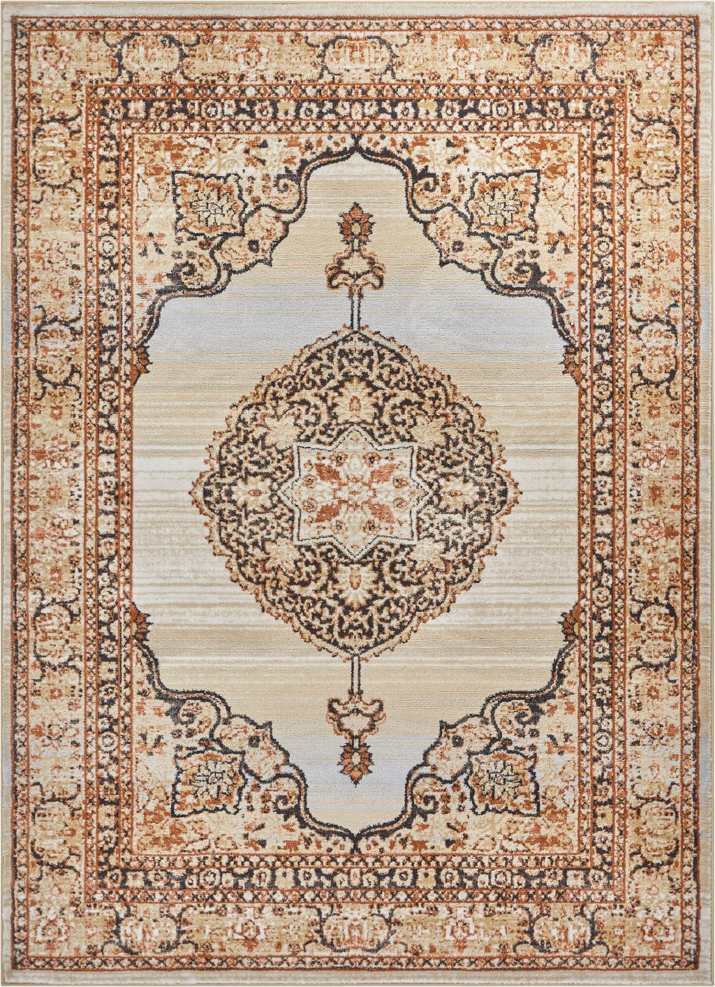 Kashmir Red Traditional Rug