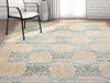Pompey  Blue Distressed Modern Rug