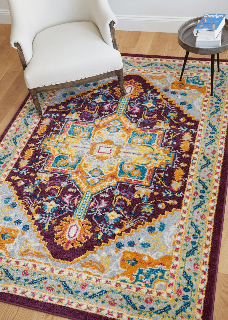 Celesita Purple Traditional Vintage Rug