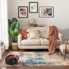 Vento Bohemian Modern Abstract Distressed Multi Rug