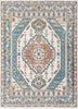 Jane Vintage Bohemian Aztec Tribal Blue Rug By Cotton Stem