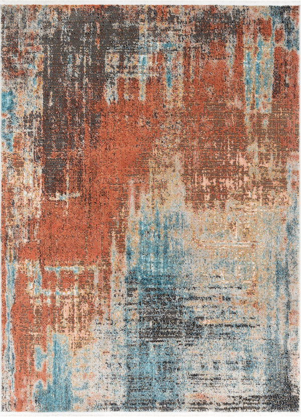 Regen Bohemian Modern Abstract Distressed Multi Rug