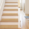 "Warby Modern Beige Non Slip 9"" x 31"" Stair Tread (Set of 7)"