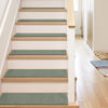 "Warby Modern Blue Non Slip 9"" x 31"" Stair Tread (Set of 7)"