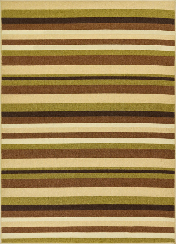 Uni Stripes Green Modern Rug
