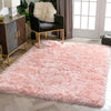 Chie Glam Solid Ultra-Soft Plush Pink Shag Rug