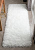 Chie Glam Solid Ultra-Soft White Shag Rug
