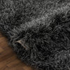 Chie Glam Solid Ultra-Soft Black Shag Rug