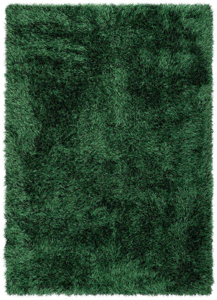 Kuki Chie Glam Solid Ultra Soft Green Shag Area Rug Ku 15 Well Woven