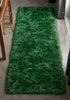 Chie Glam Solid Ultra-Soft Green Shag Rug