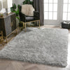 Chie Glam Solid Ultra-Soft Grey Shag Rug