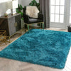 Chie Glam Solid Ultra-Soft Teal Shag Rug