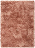 Chie Glam Solid Ultra-Soft Salmon Shag Rug