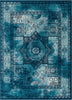 Fiatto Blue Traditional Vintage Rug