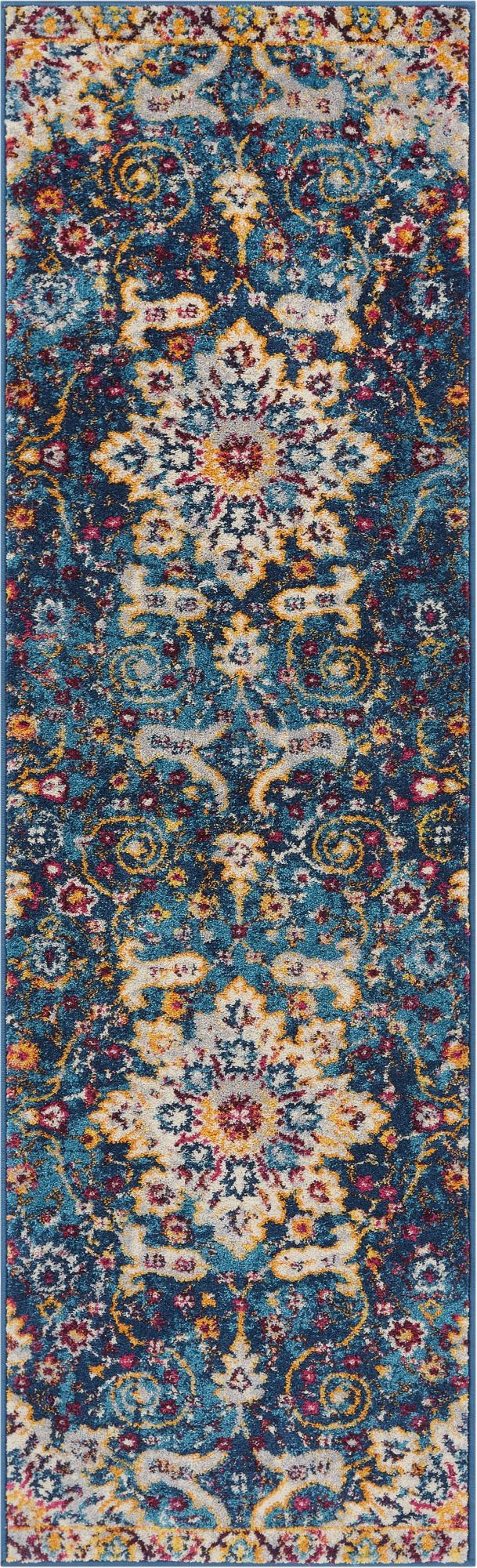 Wonderly Blue Modern Rug