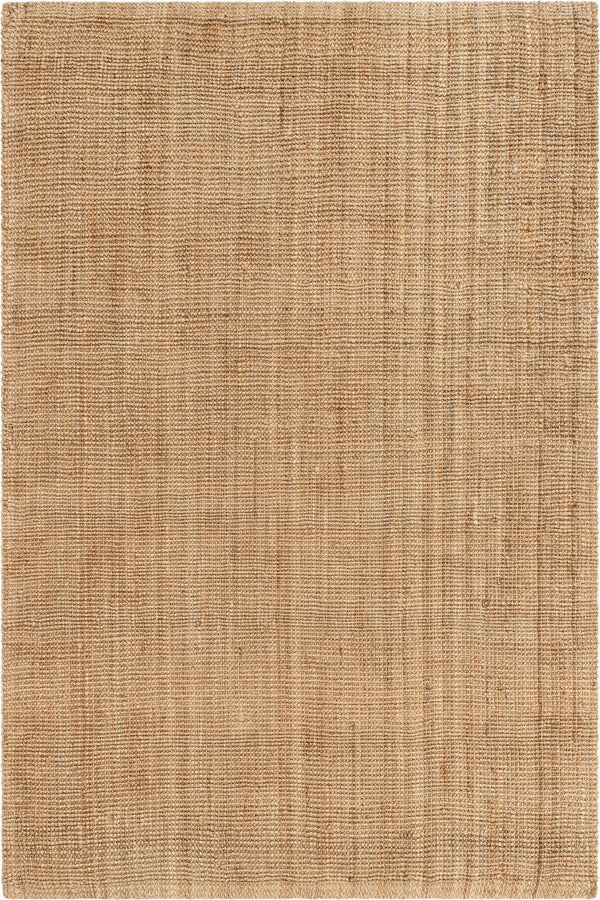 Boucle Hand-Woven Jute Rug Farmhouse Solid Pattern Natural Chunky-Textured Rug