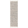 Turin Modern Abstract Striation Grey Kilim-Style Rug