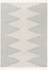 Zipped Tribal Aztec Geometric Grey Kilim-Style Rug