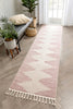 Zipped Tribal Aztec Geometric Blush Kilim-Style Rug