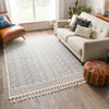 Dora Tribal Moroccan Geometric Light Blue Kilim-Style Rug