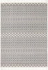 Covina Tribal Geometric Diamond Grey Kilim-Style Rug