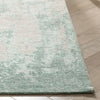 "Sarno Modern Distressed Abstract Light Grey & Blue Kilim-Style 5'3"" x 7'3"" Rug"