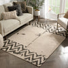 Cassino Contemporary Chevron Brown Kilim-Style Rug