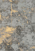 Stressa Modern Distressed Abstract Brush Stroke Beige Kilim-Style Rug