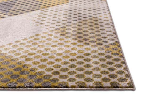Abbey Yellow Mid-Century Modern Rug