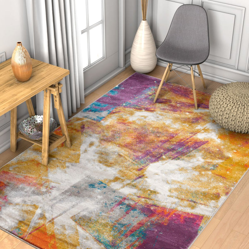 Planetary Multi Modern Space Rug