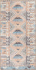 Boron Machine Washable Vintage Gabbeh Geometric Pattern Blush Pink Flat-Weave Distressed Rug