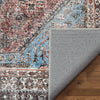 Menda Machine Washable Vintage Bohemian Meallion Oriental Blush Flat-Weave Distressed Rug