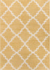"Trellis Yellow Modern 3-Piece Set (5' x 7' and Bonus 20"" x 31""  Mats)"
