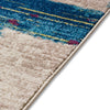 Central Park Blue Abstract Brushstrokes Rug