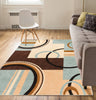 Boombastic Light Blue Modern Geometric Rug