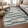 Griffith Blue Modern Geometric Rug