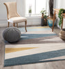 Yuma Modern Abstract Blue Rug