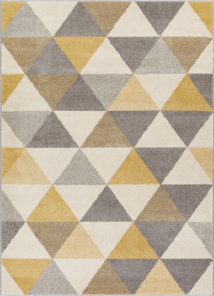Alvin Gold Modern Geometric Rug Well Woven
