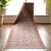 Sol Custom Size Indoor/Outdoor Runner Lattice Trellis Coral 31 Inch Width x Choose Your Length Hallway Flat-Weave Runner Rug